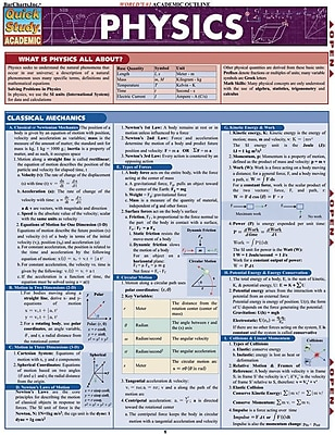 BarCharts, Inc. - QuickStudy Physics Reference Set 1932930
