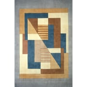 Momeni New Wave IV Blue/Brown Area Rug; 3'6'' x 5'6''