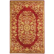 Safavieh Heritage Red/Yellow Floral Area Rug; Round 8'