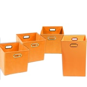 Modern Littles Bold Solid 4 Piece Organization Bundle Set; Orange