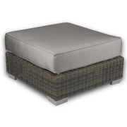 Patio Heaven Palisades Ottoman with Cushion; Graphite