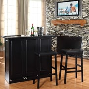 Crosley Bar Set with Wine Storage; Black