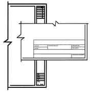 ClearPrint 1000HTS Series Unprinted Vellum Title Block/Border Sheet (Set of 100); 17'' W x 11'' D