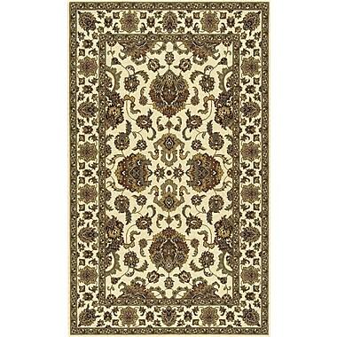 Momeni Persian Garden Ivory/Brown Area Rug; 5' x 8'