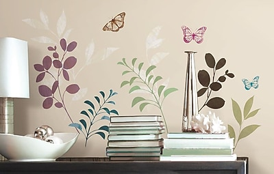 Room Mates Deco Botanical Butterfly Wall Decal WYF078277118040