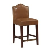 Linon Manor 24'' Bar Stool with Cushion; Russet