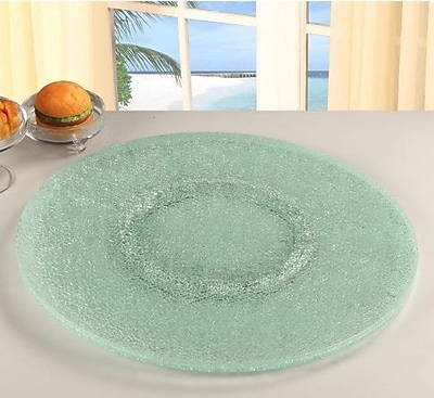Chintaly Sandwich Glass Lazy Susan; Clear WYF078276883819