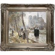 Tori Home Notre-Dame de Paris by Jean Francois Raffaelli Framed Original Painting