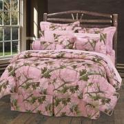 HiEnd Accents Pink Oak Camo Comforter Set; King