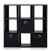 Furinno Simplistic 26.5'' Bookcase; Espresso / Black