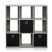 Furinno Simplistic 26.5'' Bookcase; French Oak Grey / Black