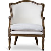 Wholesale Interiors Baxton Studio Charlemagne Traditional French Arm Chair; Ash