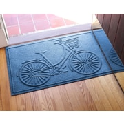 Bungalow Flooring Aqua Shield Nantucket Bicycle Doormat; Medium Blue