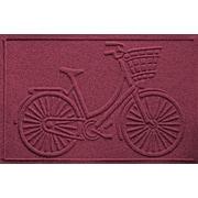 Bungalow Flooring Aqua Shield Nantucket Bicycle Doormat; Bordeaux