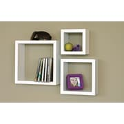 nexxt Design Cubbi 3 Piece Wall Shelf Set; White
