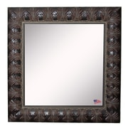 Rayne Mirrors Ava Feathered Accent Wall Mirror; 33.5'' W X 33.5'' H