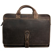 Canyon Outback Leather Texas Leather Briefcase; Brown