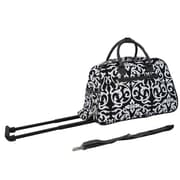 All-Seasons Vacation Deluxe 21'' 2 Wheeled Carry-On Duffel; Black