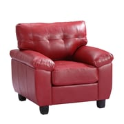 Glory Furniture Arm Chair; Red