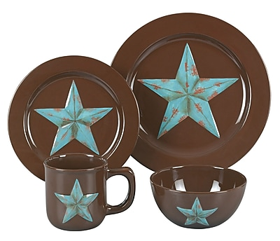 HiEnd Accents Star 16 Piece Dinnerware Set WYF078277446444