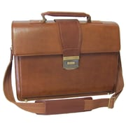 AmeriLeather Charisma Leather Laptop Briefcase; Brown