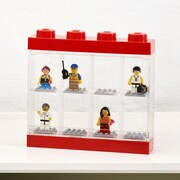 LEGO by Room Copenhagen Minifigure Display Case for 4; Red