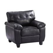 Glory Furniture Arm Chair; Black