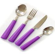 Linen Depot Direct MAX 24 Piece Flatware Set; Purple