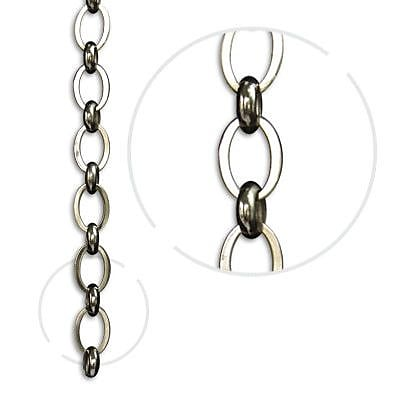 RCH Supply Company Oval Un-Welded Link Solid Brass Chain Rings; Polished Nickel WYF078278047058