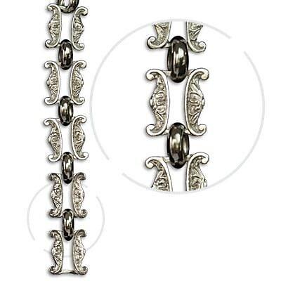RCH Supply Company Motif Un-Welded Link Solid Brass Chain; Polished Nickel WYF078278047077