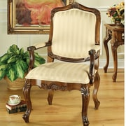 Design Toscano St. Enimie Fauteuil Masters Cotton Arm Chair; Brown