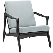 Modway Pace Arm Chair; Black / Light Blue