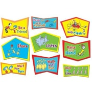 Eureka! 9 Piece Dr. Seuss Classroom Rules Bulletin Board Cut Out Set