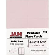 "JAM Paper Place Cards, Baby Pink, 3.75"" x 1.75"", 12/Pack (225928569)"