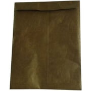 "JAM Paper Peel and Seal Heavy-Duty Tyvek Envelope, 10"" x 13"", Brown, 10/Pack (3217726b)"