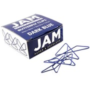 "JAM Paper, Dark Blue Butterfly Paper Clips, 1.5"", 15/Pack (332BYbu)"