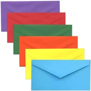 "JAM Paper Business Monarch Envelope, 3.875"" x 7.5"", Multicolored, 150/Pack (3409brorgpy)"