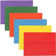 JAM Paper® A6 Invitation Envelopes, 4.75 x 6.5, Brite Hue Assorted Colors, 150/pack (67A6BRORGVB)