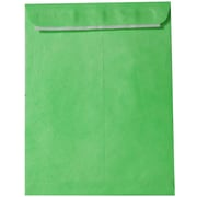 JAM Paper Peel & Seal Heavy Duty Tyvek Envelope, 10 x 13, Lime Green, 10/Pack (v021381b)