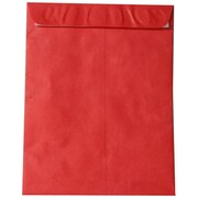 "JAM Paper Peel and Seal Heavy-Duty Tyvek Envelope, 10"" x 13"", Red, 10/Pack (v021383b)"
