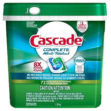 Cascade - Sachets ActionPacs Complete tout-en-un, paq./72