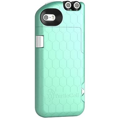 Digital Treasures – Étui TurtleCell pour iPhone 5S avec écouteurs rétractables, aqua