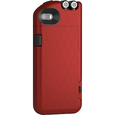 Digital Treasures TurtleCell Retractable Headphone Case for iPhone 5S, Red