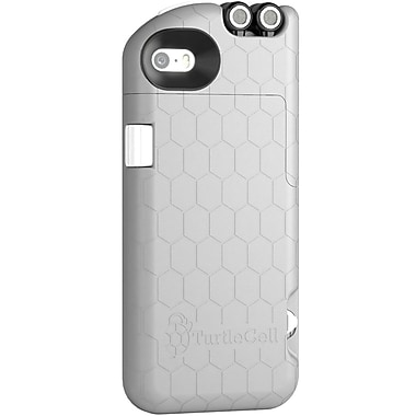 Digital Treasures TurtleCell Retractable Headphone Case for iPhone 5S, Grey