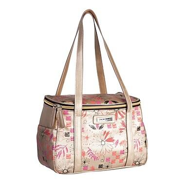 Simon Chang Faux Leather Ladies Satchel Cooler Bag, Gold