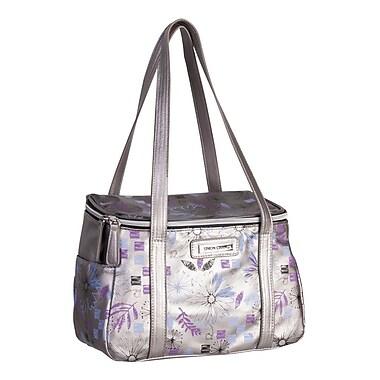 Simon Chang Faux Leather Ladies Satchel Cooler Bag, Silver