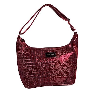 Simon Chang Ladies Faux Leather Croco Print Cooler Bag, Red
