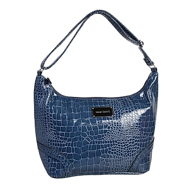 Simon Chang Ladies Faux Leather Croco Print Cooler Bag, Blue