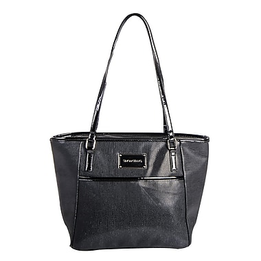 Simon Chang Ladies Faux Leather Snake Print Cooler Bag, Black
