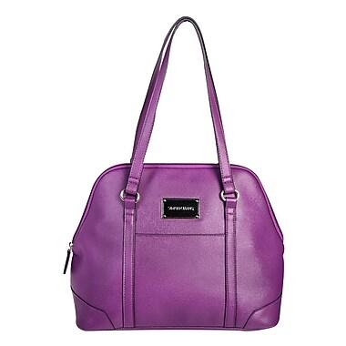 Simon Chang Ladies Faux Leather Dome Satchel Cooler Bag, Purple